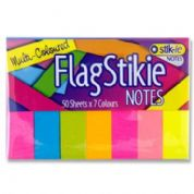 Premier Stikie Neon Page FlagStikie Markers 50 x 7 Colours
